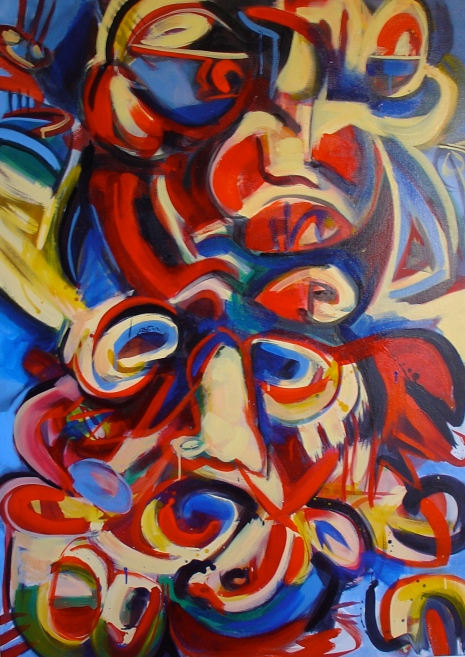 Carnevale, 2005, acrylic and oil on canvas. AVAILABLE