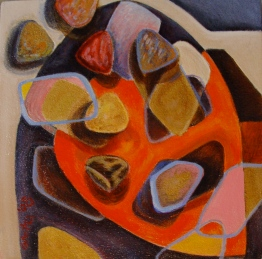 You are my treasure II, 2008, acrylic and mixed media on canvas. SOLD