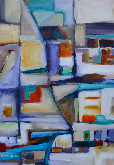 Urban Landscape, 2008, acrylic and oil on canvas. SOLD