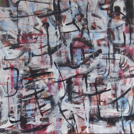 Stage I, 2008, acrylic and oil on canvas. SOLD