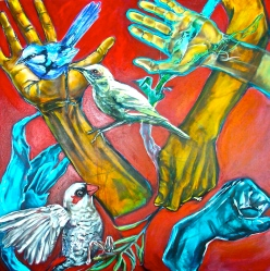 Hold, 2006, acrylic on canvas. AVAILABLE