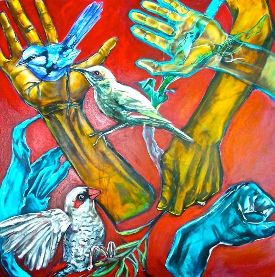 Hold, 2006, acrylic on canvas. AVAILABLE