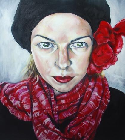 Self portrait, 2009, acrylic and oil on canvas