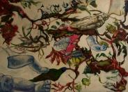 Dolly Dreaming, 2011, acrylic, oil & enamel on canvas. AVAILABLE