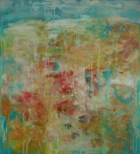 Winter, 2016, acrylic and mixed media on canvas, 110 x 91 cm AVAILABLE