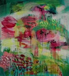 Winter Garden I, 2016, acrylic on canvas, 110x91cm SOLD