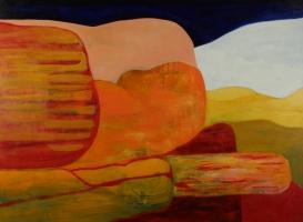 Monolith, 2016, acrylic and mixed media on canvas, 80x120cm AVAILABLE