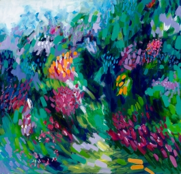 Spring Rush, 2016, acrylic and mixed media on canvas