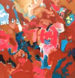 Hill Flight, oil on canvas, 115x102cm