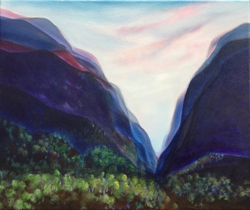 Valley, oil on canvas, May 2017