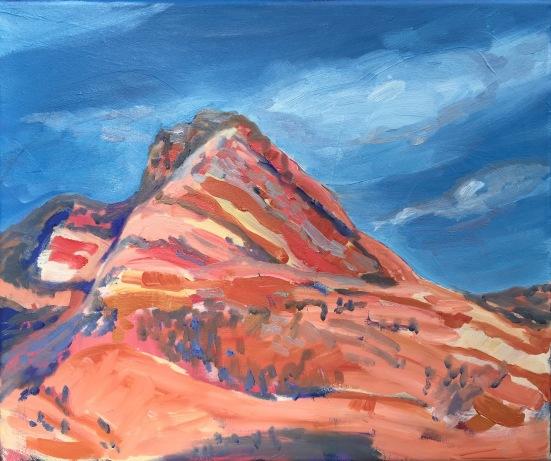Peak, oil on canvas, May 2017