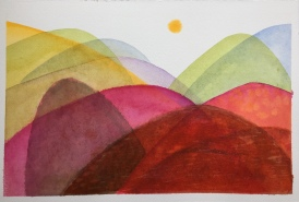 Forever Land (Pink and Green Hills)