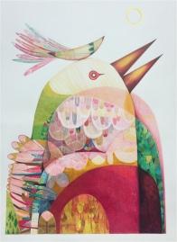 Mountain Bird, colour pencil on 224gm Canson paper, 59.4x84.1cm