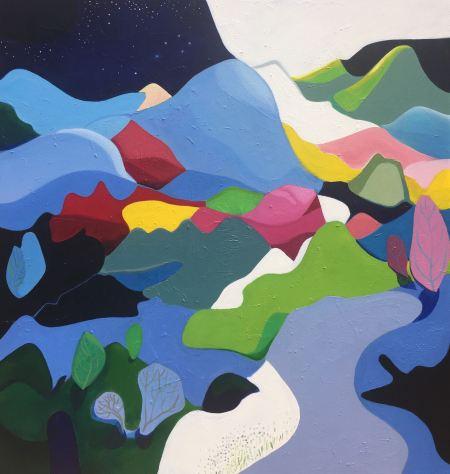 'Nightfall' (2017), oil on canvas