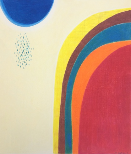 Study for a Landscape #11, colour pencil on 270 gm Bristol Paper, 35.6x43.2cm