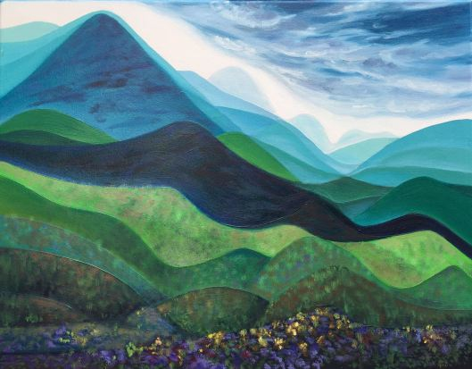'Valley I', (2017), oil on canvas