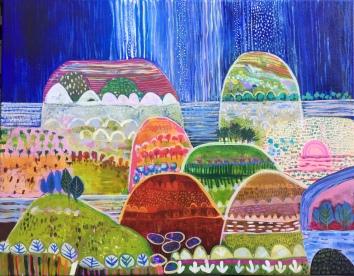 After The Rain, acrylic on canvas, 91x76cm